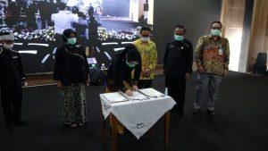 Ketua DPRD Purwakarta Tandatangani Musrenbang RPJMD Perubahan